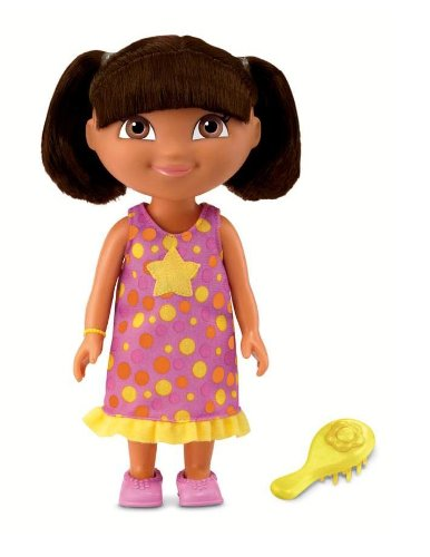 dora the explorer, fisher price, barbie, disney princess
